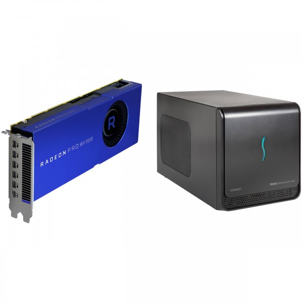 Sonnet eGPU Breakaway Box mit AMD RadeonPro WX 9100